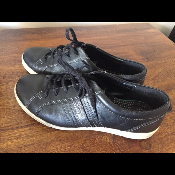 Ecco Soft 7 Sneakers, Black Leather